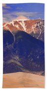 Rocky Mountains And Sand Dunes Bath Towel