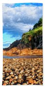 Rocky Oregon Beach Bath Towel