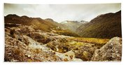 Rocky Valley Mountains Bath Towel