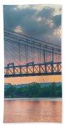 Roebling Suspension Bridge - Cincinnati, Ohio Bath Towel