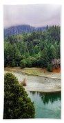 Rogue River Bend Pano Bath Towel