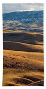 Rolling Foothills And The Bighorn Mountains Bath Towel