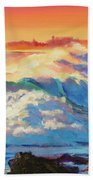 Rolling Ocean Surf - Plein Air Bath Towel