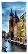 Romance In Krakow Bath Towel