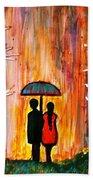 Romance In The Rain Bath Towel