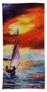 Romancing The Sail Hand Towel by Darice Machel McGuire