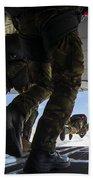 Romanian Paratroopers Perform A Halo Bath Towel