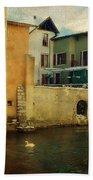 Romantic Annecy Bath Towel by Jenny Rainbow