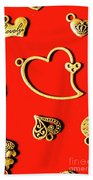 Romantic Heart Decorations Bath Towel