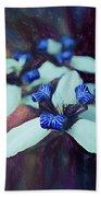 Romantic Island Lilies In Blues Bath Towel