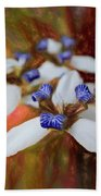Romantic Textured Island Lilies  Hand Towel