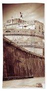 Rome Monument Architecture Bath Sheet by Stefano Senise