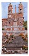Rome-piazza Di Spagna Bath Towel