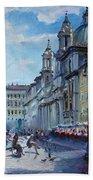 Rome Piazza Navona Bath Towel