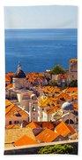 Rooftops Of Old Town Dubrovnik Bath Towel
