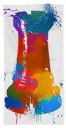 Rook Chess Piece Paint Splatter Hand Towel
