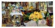 Room Of Flowers, 1894 Bath Towel