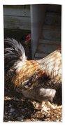 Rooster In A Coop Bath Towel