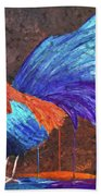 Rooster Painting Bath Towel