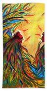 Roosters Frienship Hand Towel