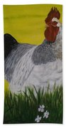 Roosty And Wild Flowers Bath Towel