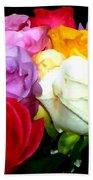 Rose Bouquet Painting Bath Towel