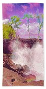 Rose Colored Splash At Mackenzie Bath Towel
