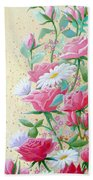 Rose Diptych 2  Hand Towel
