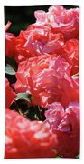 Rose Garden Art Prints Pink Red Rose Flowers Baslee Troutman Bath Towel