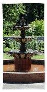 Rose Garden Fountain Bath Towel
