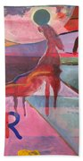 Rose Horse Bath Towel