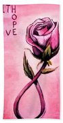 Rose Of Hope Bath Towel