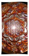 Rose Of Life Copper Lightmandala Hand Towel