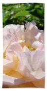 Rose Pink Sunlit Rose Flower Art Prints Baslee Troutman Bath Towel