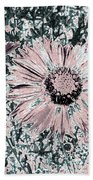 Rose Wine Daisies Bath Towel