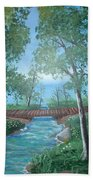 Roseanne And Dan Connor's River Bridge Bath Towel