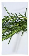 Rosemary Isolated On White Bath Towel