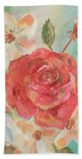 Roses And Flowers Bath Towel