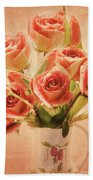 Roses And Tulips Bath Towel