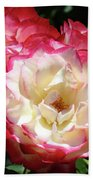 Roses Art Prints Pink White Rose Flowers Gifts Baslee Troutman Bath Towel