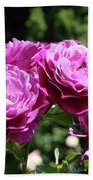 Roses Art Rose Garden Pink Purple Floral Prints Baslee Troutman Bath Towel