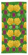 Roses Dancing On A Tulip Field Of Festive Colors Bath Towel