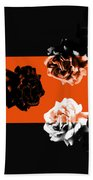 Roses Interact With Orange Hand Towel