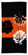 Roses Interact With Orange Bath Towel
