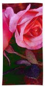 Roses Silked Pink Vegged Out Bath Towel