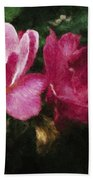 Roses With Texture Hand Towel