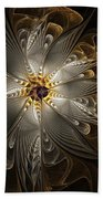 Rosette In Gold And Silver Bath Towel