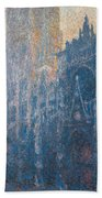 Rouen Cathedral, The Portal, Morning Bath Towel