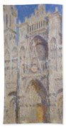 Rouen Cathedral, The Portal, Sunlight Bath Towel