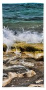 Rough Seas At Blowing Rock Bath Towel